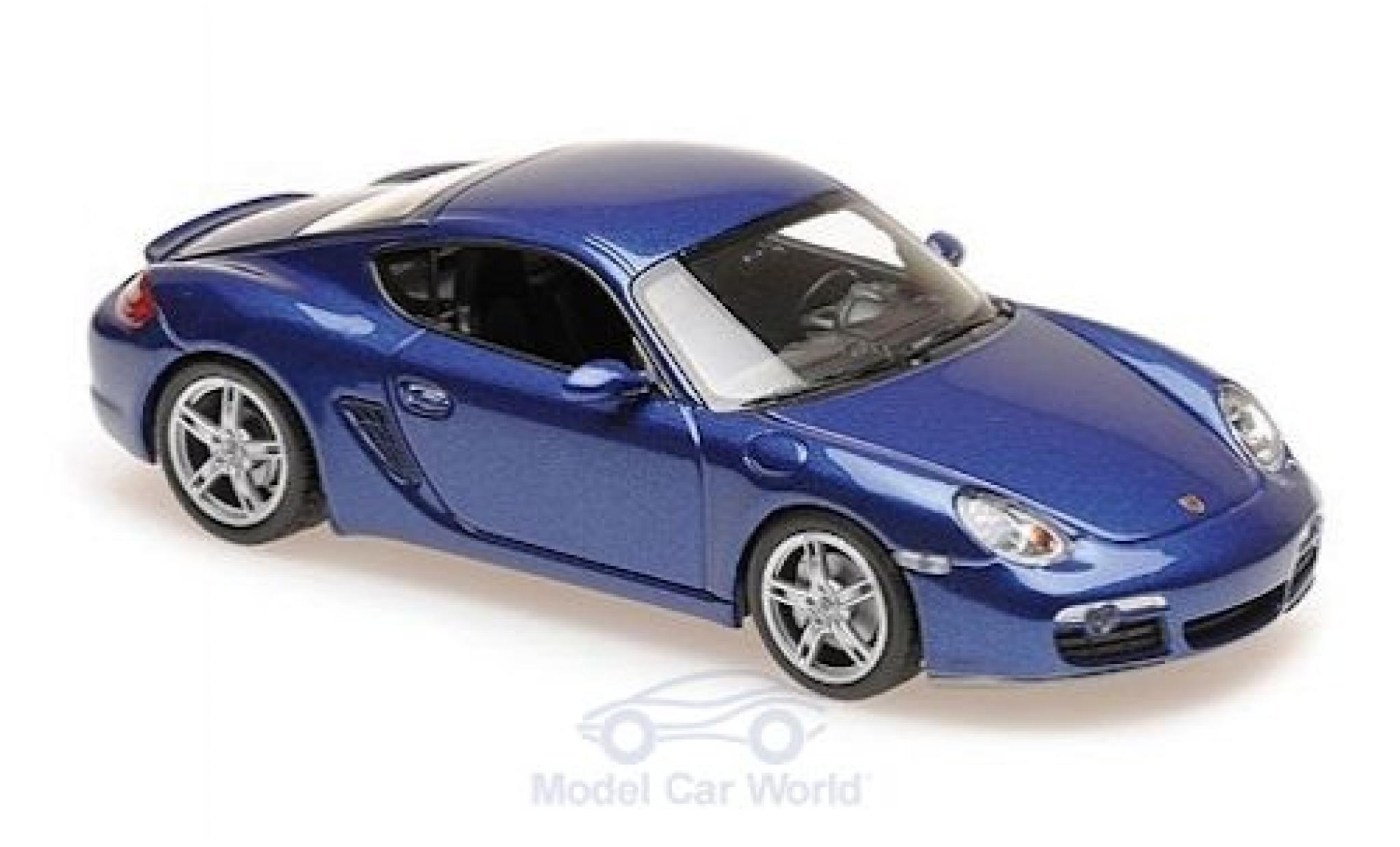 Porsche Cayman 1/43 Maxichamps S métallisé bleue 2005