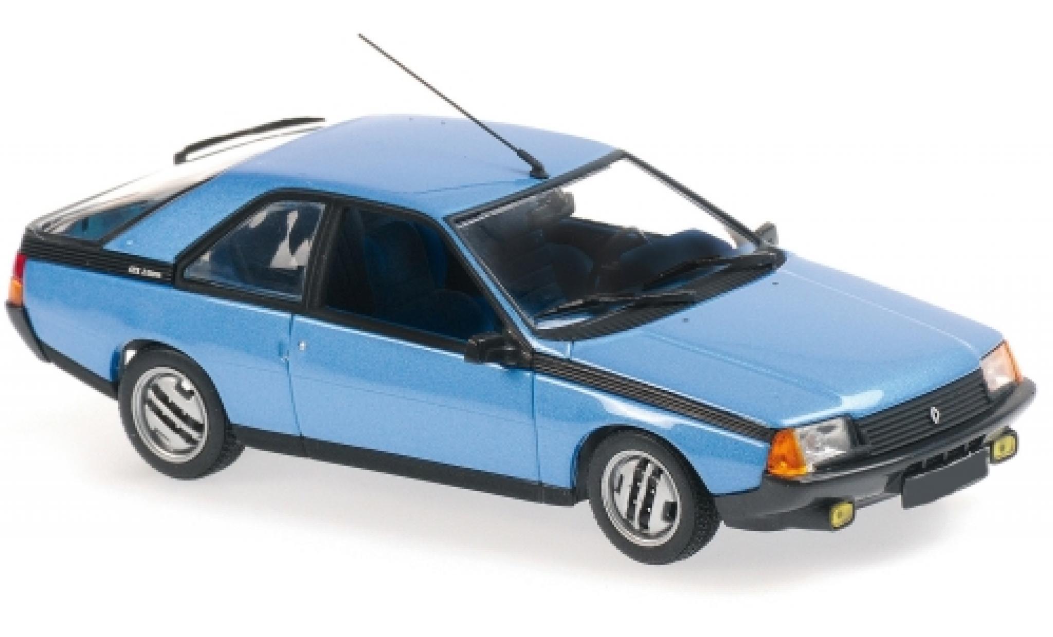 Renault Fuego 1/43 Maxichamps metallise bleue 1984