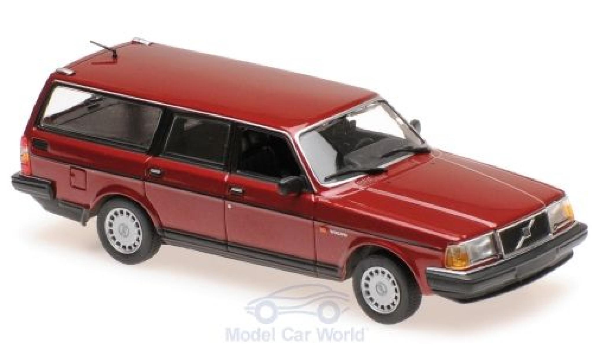 Volvo 240 1/43 Maxichamps GL Break métallisé rouge 1986