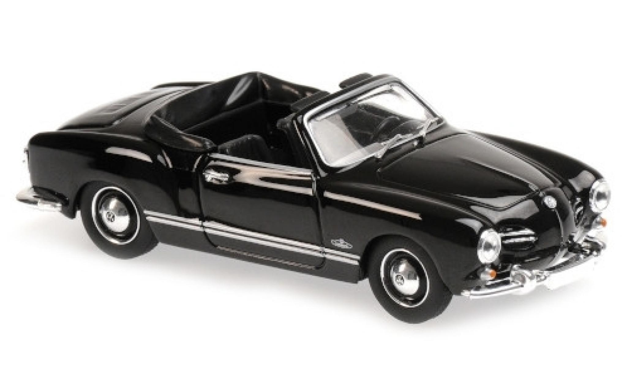 Volkswagen Karmann 1/43 Maxichamps Ghia Cabriolet (Typ 14) noire 1955
