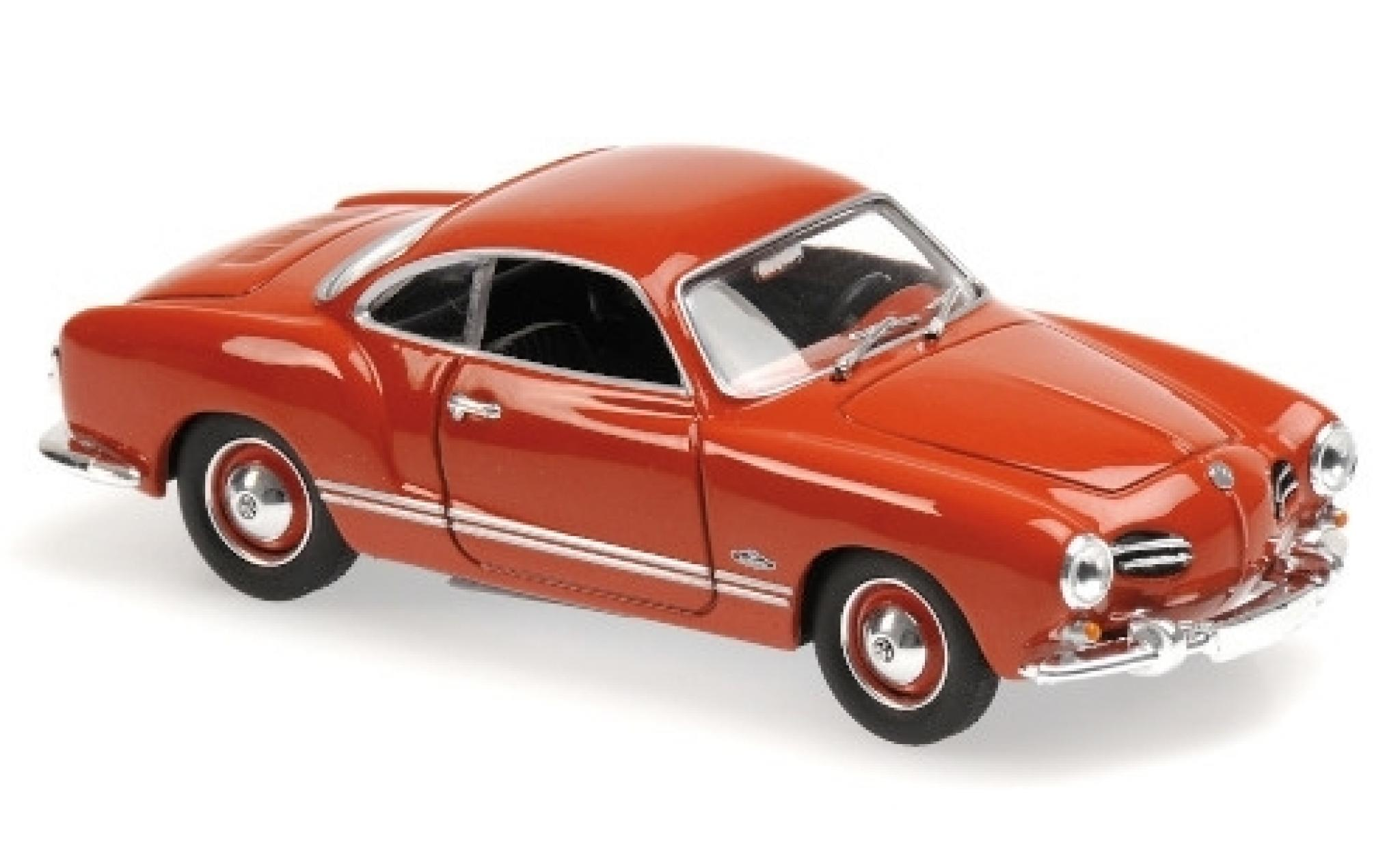 Volkswagen Karmann 1/43 Maxichamps Ghia Coupe rouge 1955
