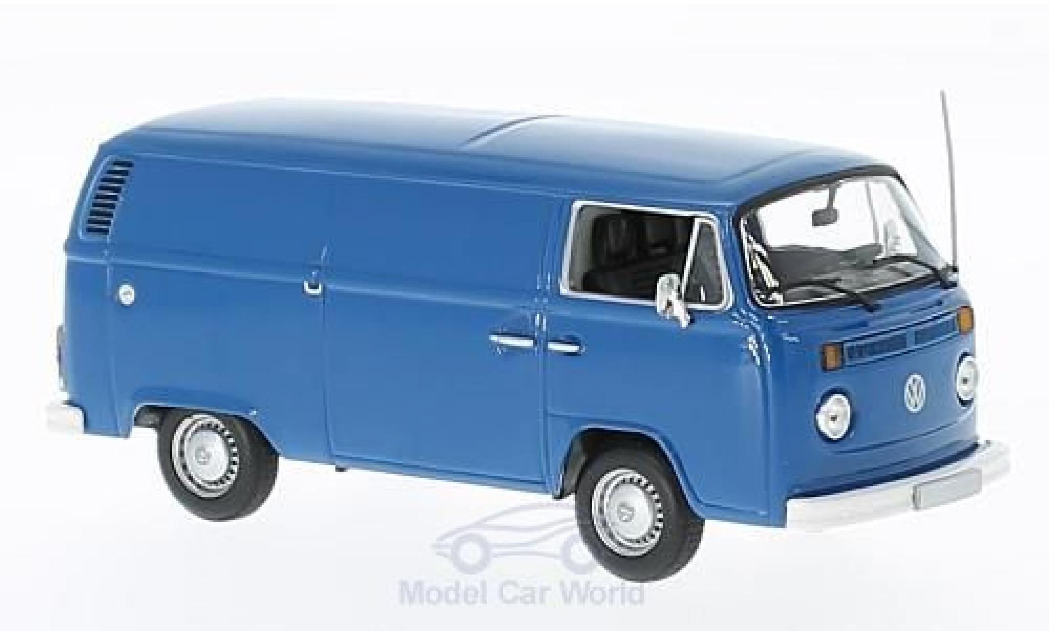 Volkswagen T2 B 1/43 Maxichamps bleue 1972 Kastenwagen