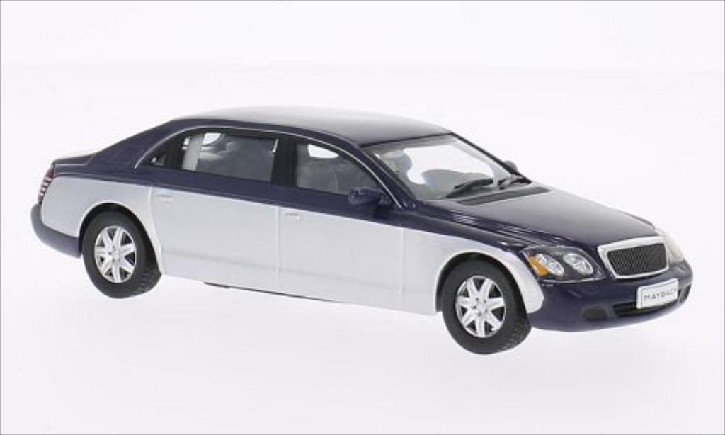 Maybach 62 1/43 WhiteBox metallise bleu/grise 2009 miniature