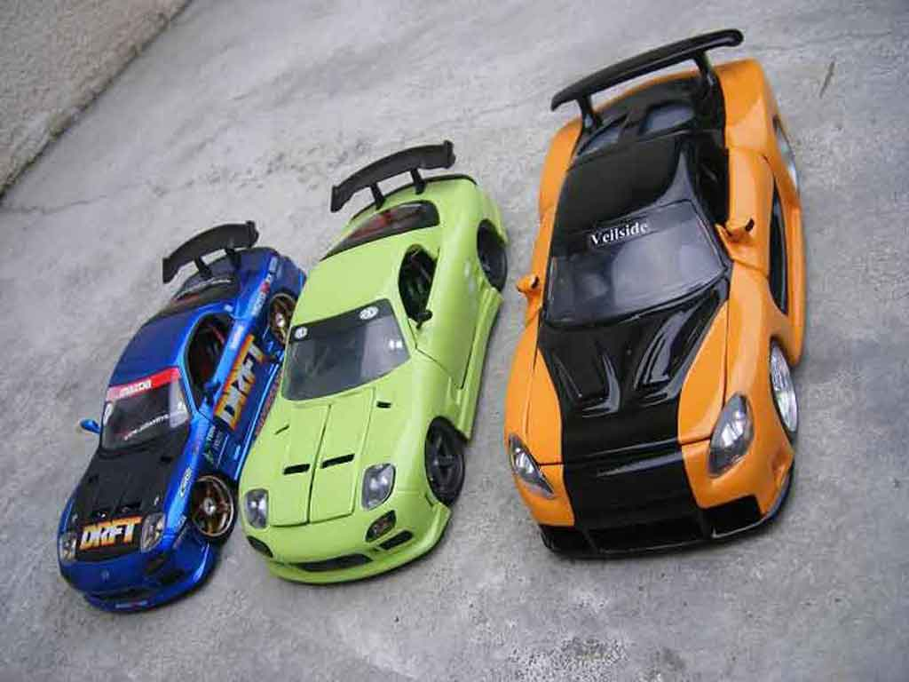 Mazda RX7 1/18 Jada Toys kit veilside fast and furious 3