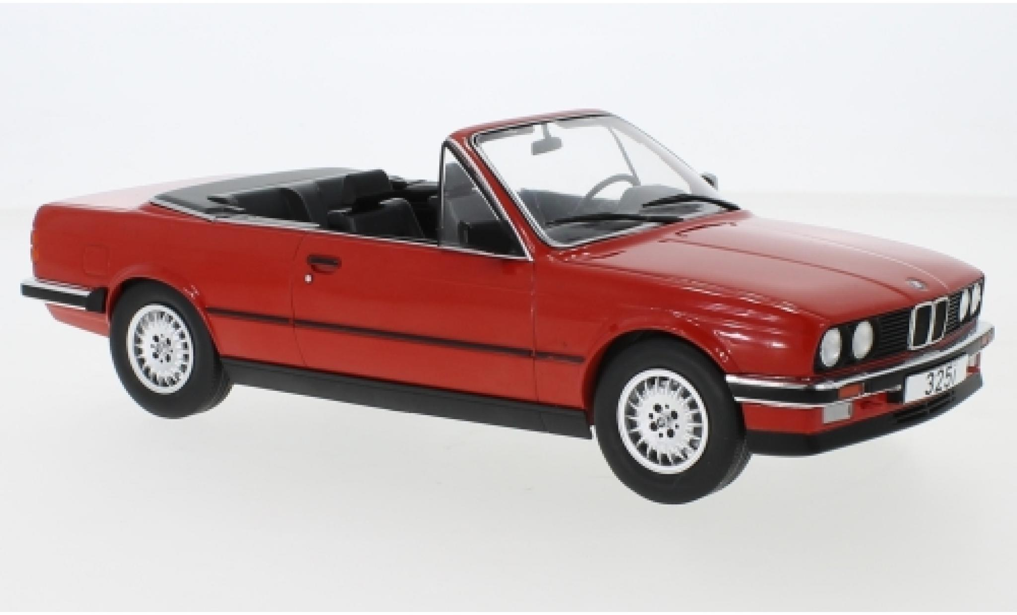 Bmw 325 1/18 MCG i (E30) Cabriolet rouge 1985