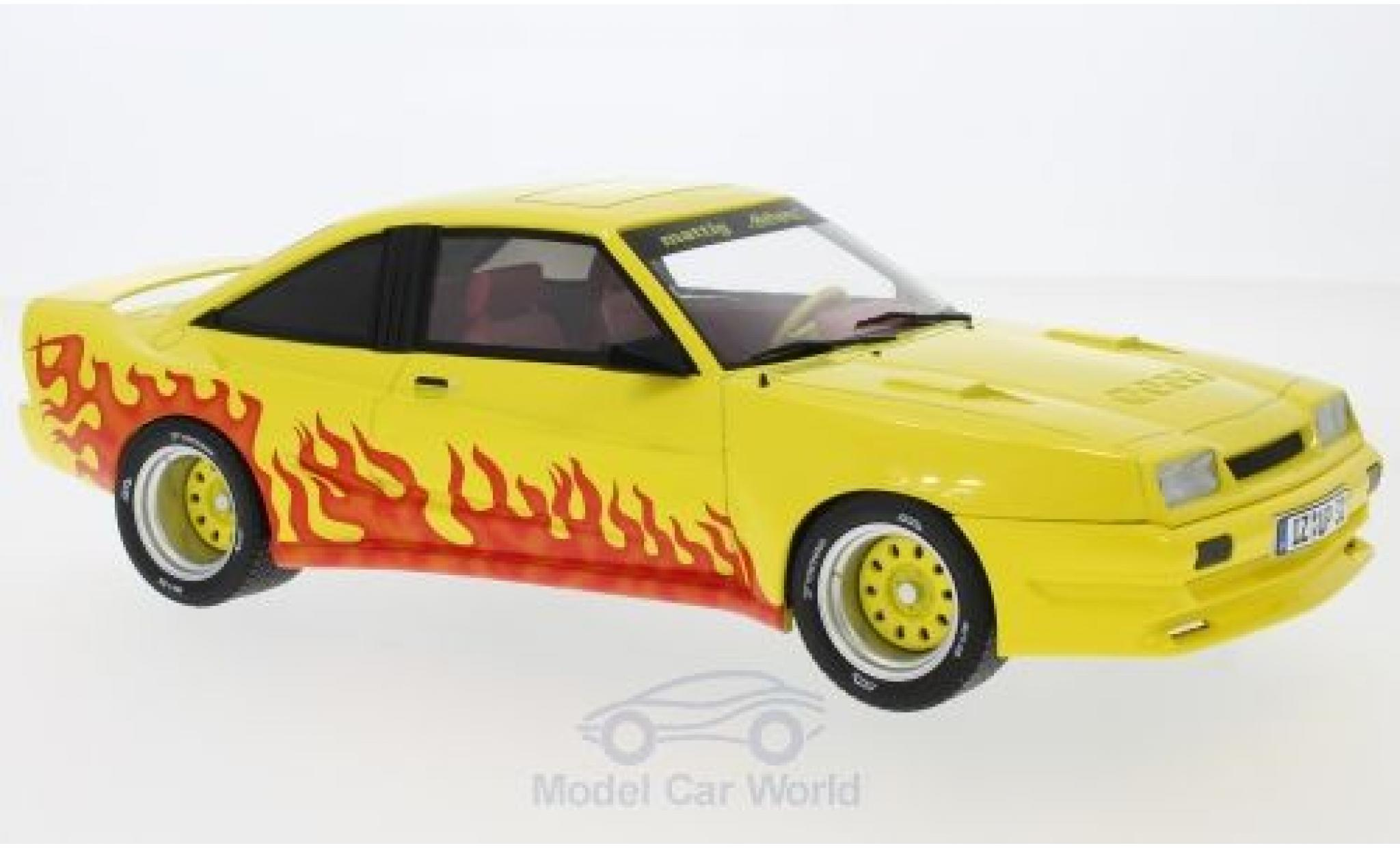 Opel Manta 1/18 MCG B Mattig jaune/Dekor 1991