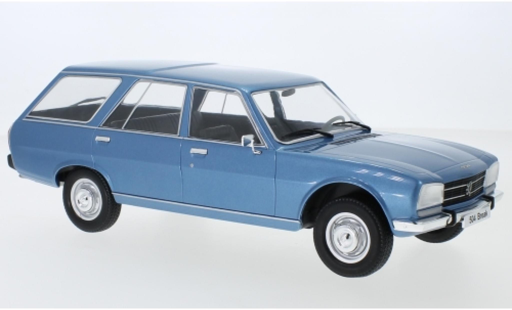 Peugeot 504 1/18 MCG Break metallise bleue 1976