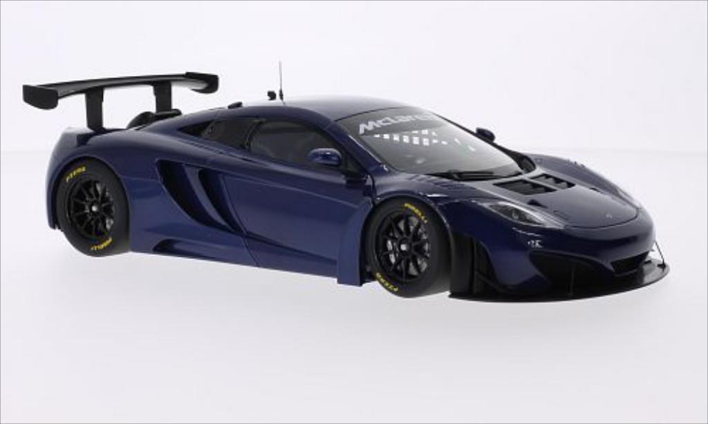 McLaren MP4-12C 1/18 Autoart GT3 metallic-bleu RHD 2011 miniature