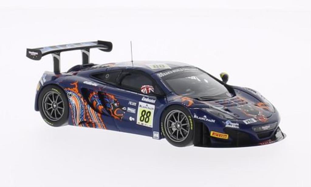 McLaren MP4-12C 1/43 Minichamps GT3 No.88 Von Ryan Racing 24h Spa 2013 /Senna