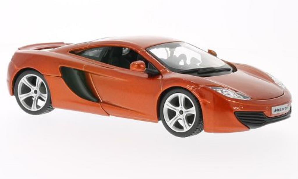 McLaren MP4-12C 1/24 Burago met-kupfer modellino in miniatura