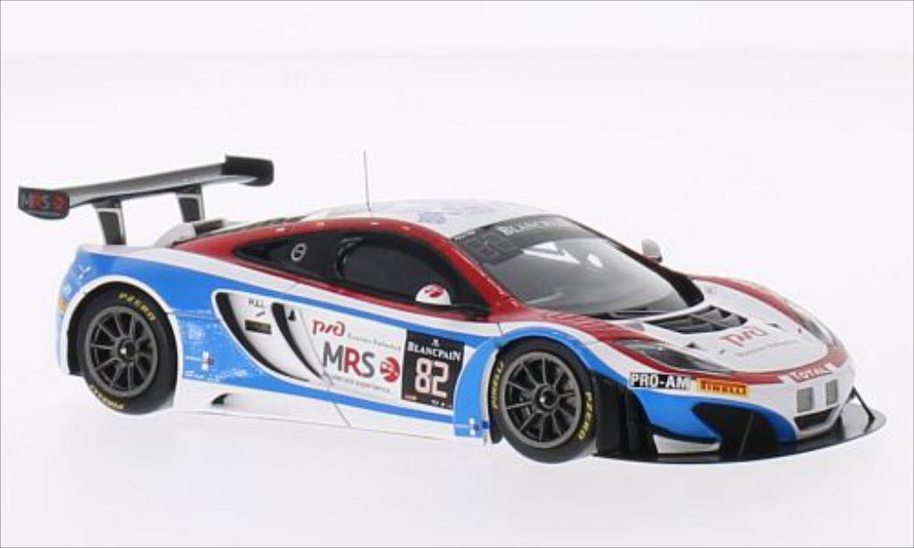 McLaren MP4-12C 1/43 Spark No.82 GT Russian Team 24h Spa 2014 /F.Spengler miniature