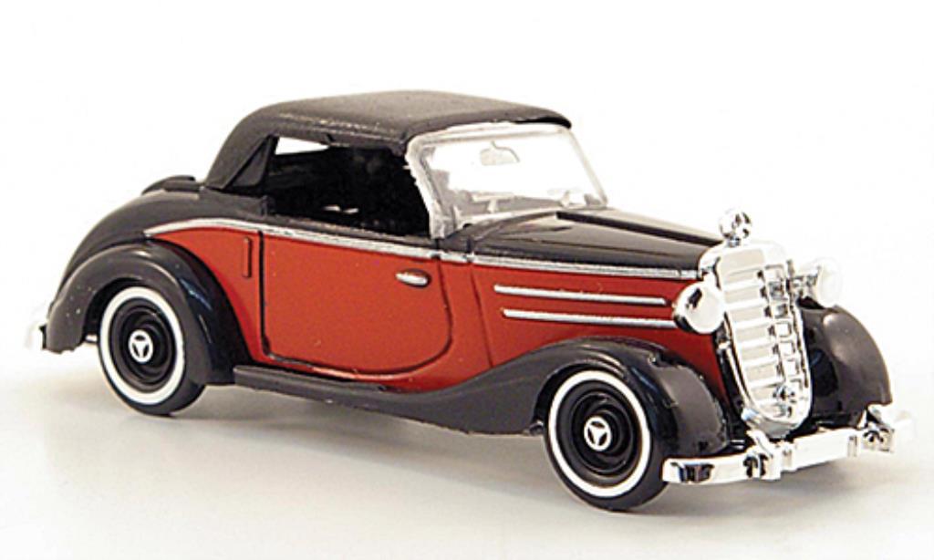 Mercedes 170 1/87 Busch S Cabrio rouge/noire geschlossen 1949 miniature