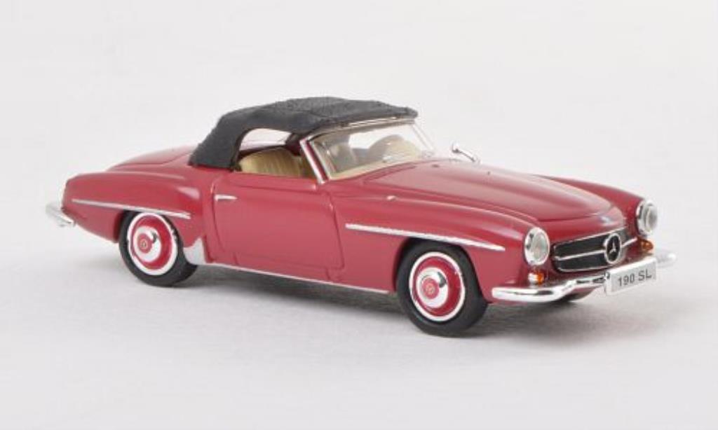 1955 rot W121 B II Mercedes 190 SL Cabrio Modellauto 1:43 // Maxichamps