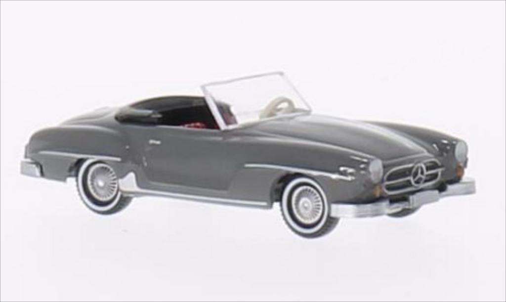 Mercedes 190 SL 1/87 Wiking SL (W121 B II) grey diecast model cars