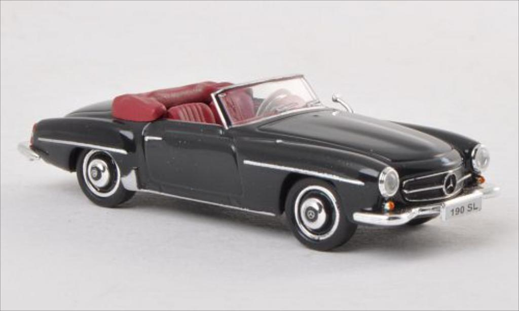 mercedes 190 sl w121 bii schwarz ricko modellauto 1 87. Black Bedroom Furniture Sets. Home Design Ideas