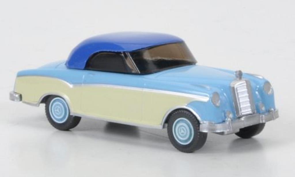Mercedes 220 1/87 Wiking Coupe bleu/beige/bleu miniature