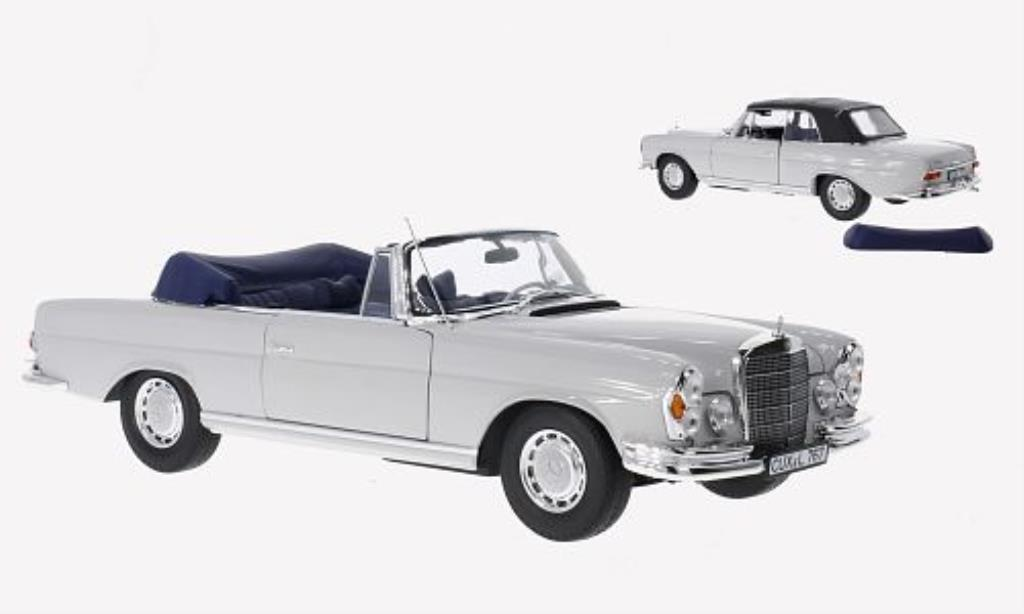 Mercedes 280 SE 1/18 Norev Cabriolet grise 1968 miniature