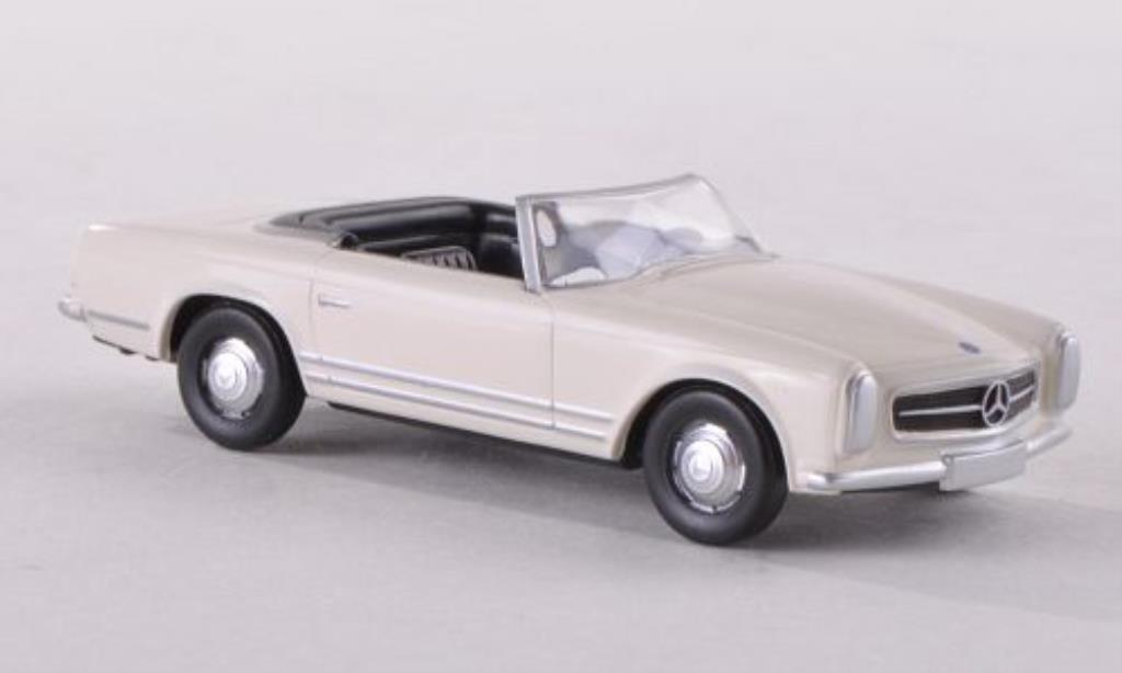 Mercedes 280 1/87 Herpa SL Pagode perlblanche miniature