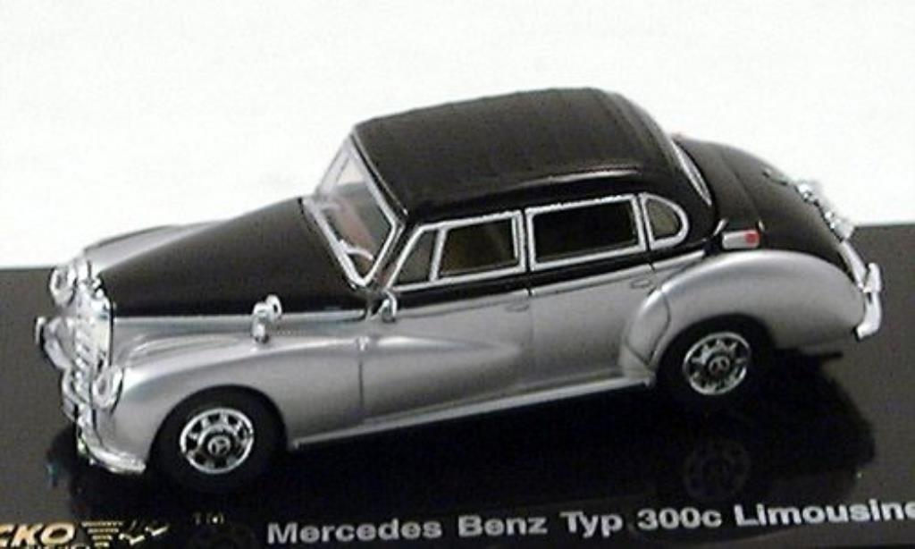 Mercedes 300 C 1/87 Ricko Limousine grise/noire 1955 miniature