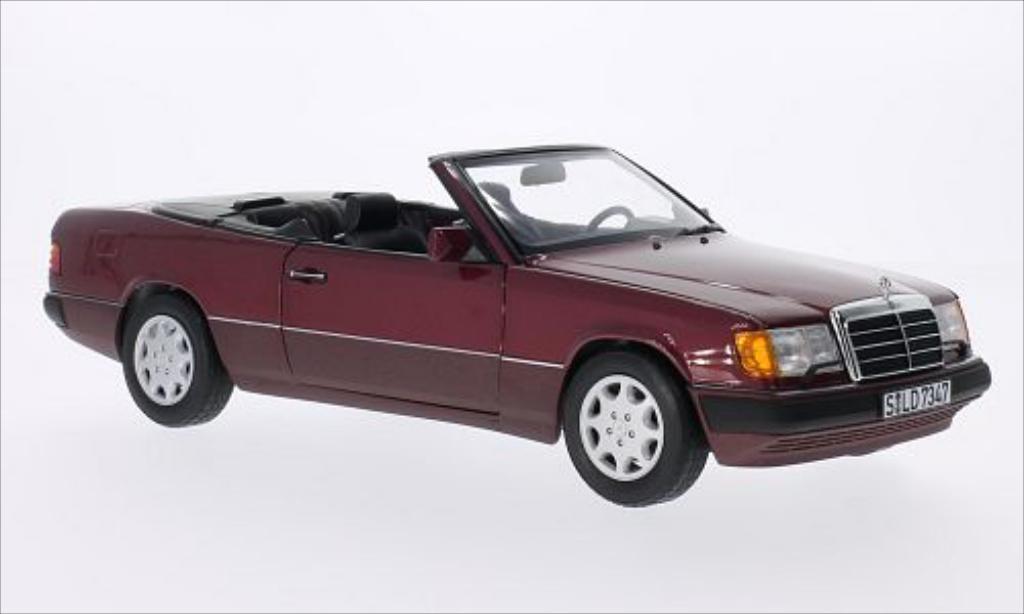 Mercedes 300 1/18 Norev CE-24 (A124) rouge miniature