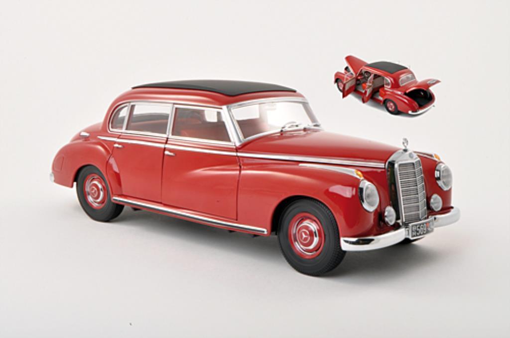 Mercedes 300 1/18 Norev (W186) rouge miniature
