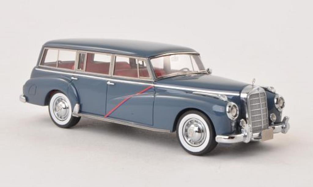 Mercedes 300 C 1/43 Matrix Binz Kombi bleu-grise 1956 miniature