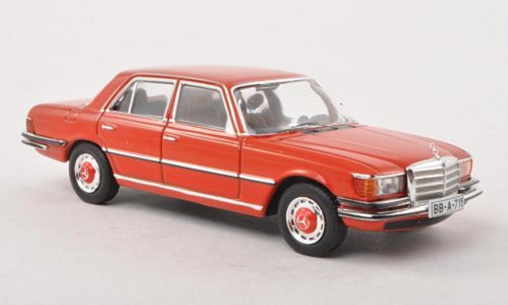 Mercedes 450 SEL 1/43 IXO (W116) rouge-orange 1975 miniature