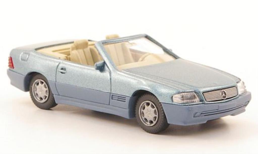 Mercedes 500 SL 1/87 Wiking SL (R129) grise-grun miniature