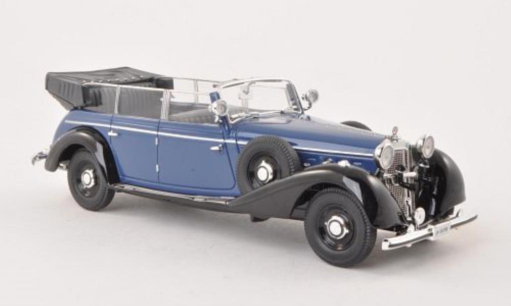 Mercedes 770 1/43 Signature Cabriolet bleu/noire 1938 miniature