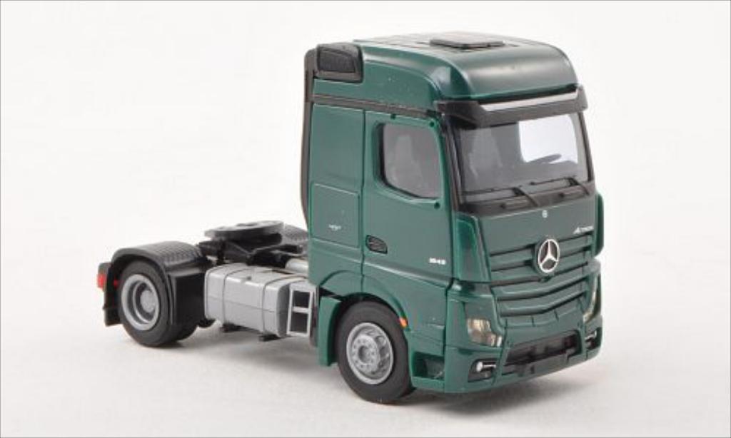 Mercedes Actros 1/87 AWM 2 Bigspace green Solo-Zugmaschine 2-achsig green diecast