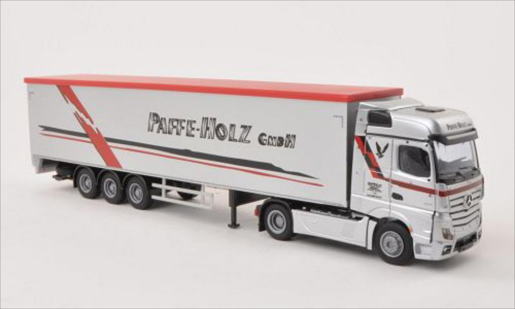Mercedes Actros 1/87 AWM 2 Bigspace Paffe-Holz GmbH Schubboden-SZ miniature
