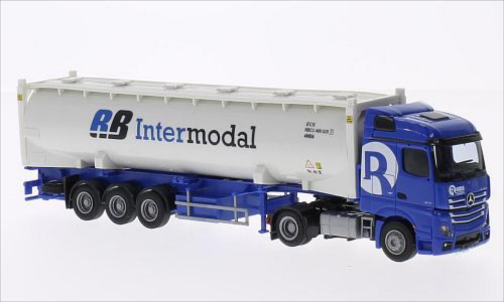 Mercedes Actros 1/87 AWM 2 Stream./Aerop. Rooms/Intermodal Silo-Co.-SZ miniature