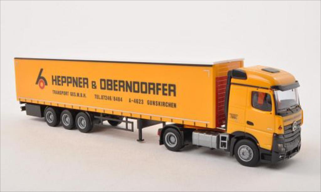 Mercedes Actros 1/87 AWM 2 Streamspace Heppner & Oberndorfer (A) Gardinenplanen-SZ diecast