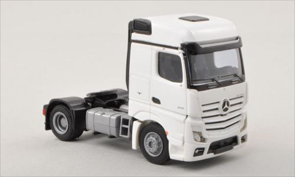 Mercedes Actros 1/87 AWM 2 Streamspace blanche Solo-Zugmaschine 2-achsig blanche miniature