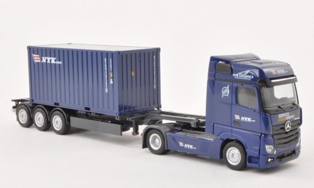 Mercedes Actros 1/87 Herpa Bigspace NYK / Addicks & Kreye Container-SZ miniature