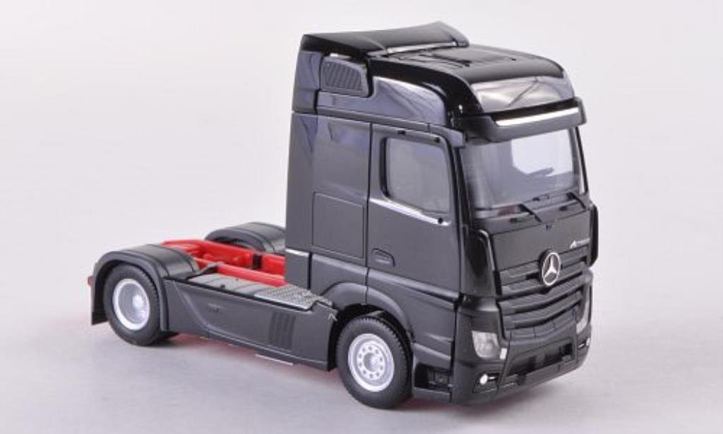 Mercedes Actros 1/87 Herpa Bigspace noire Solo-ZM 2011 miniature