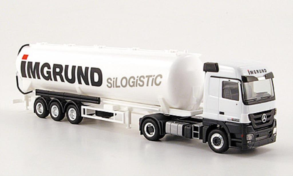 Mercedes Actros 1/87 Herpa LH 08 Imverted Silo-SZ miniature