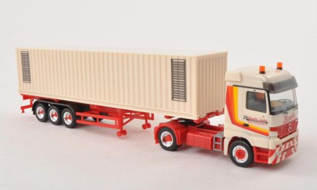 Mercedes Actros 1/87 Herpa LH Barth Container-SZ diecast