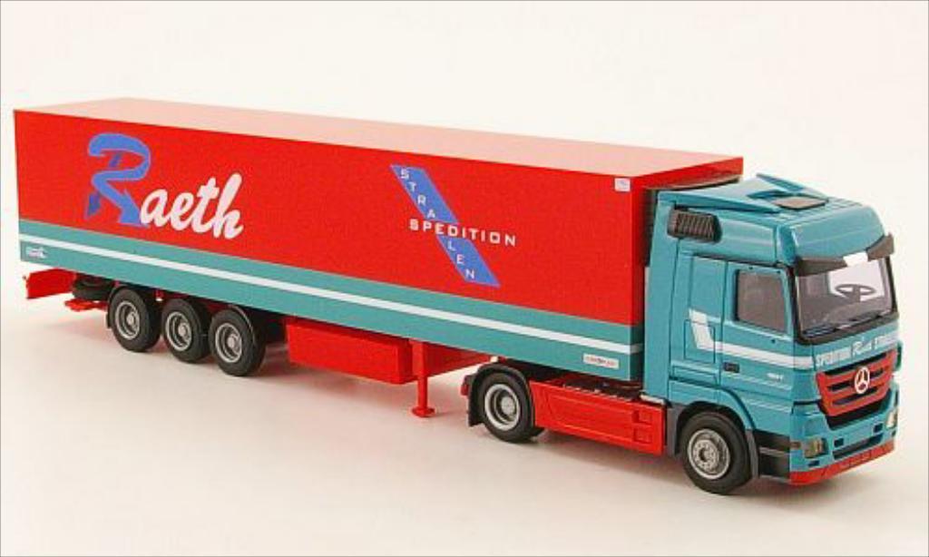 Mercedes Actros 1/87 AWM MP3 LH/Aerop. Raeth Kuhl-KSZ diecast model cars