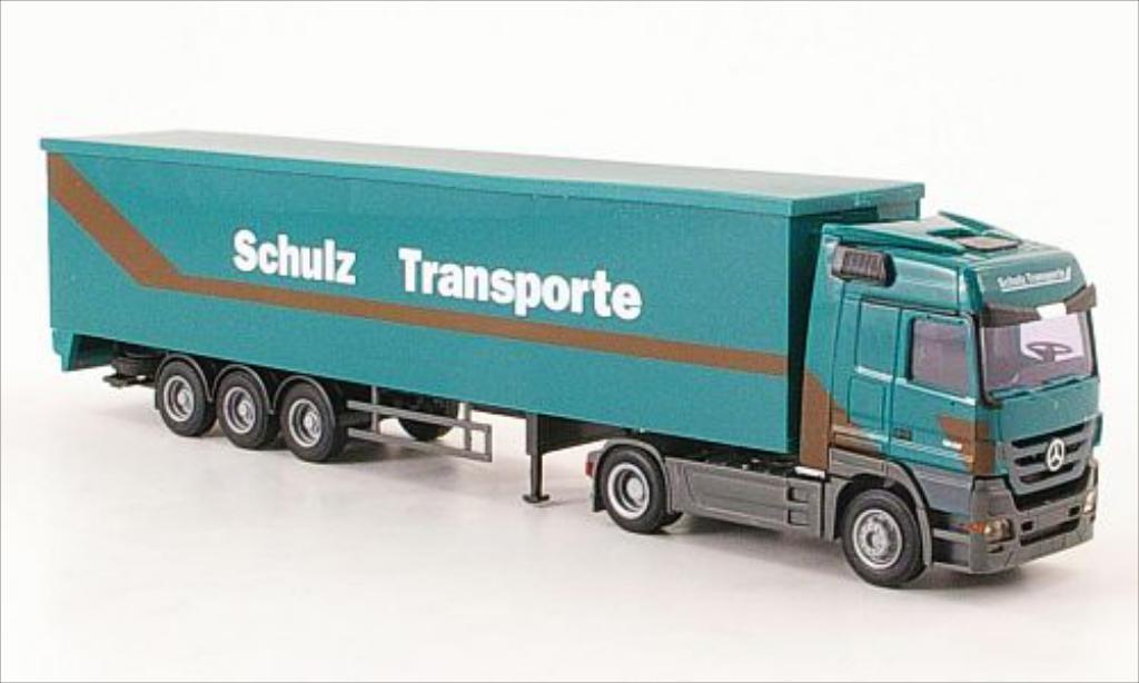 Mercedes Actros 1/87 AWM MP3 Schulz Transporte Schubboden-SZ diecast model cars