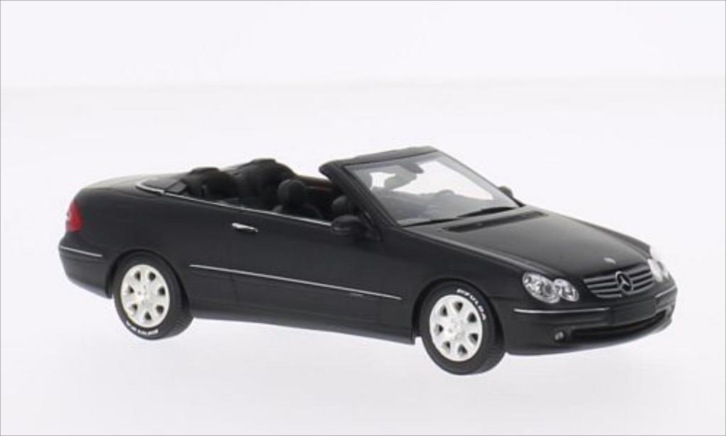 Mercedes Classe CLK 1/43 Minichamps Cabriolet matt-noire 2002 miniature