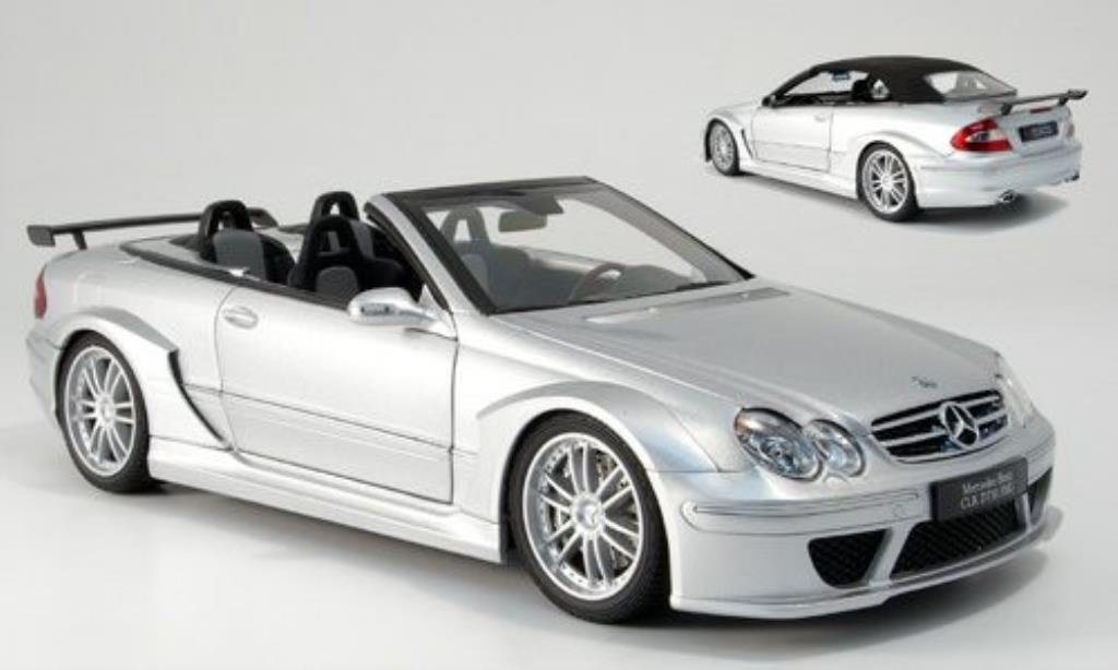 Mercedes Classe CLK DTM 1/18 Kyosho AMG Cabriolet grise miniature