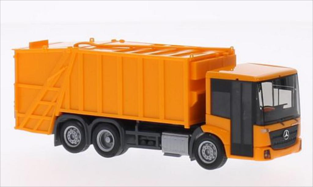 Mercedes Econic 1/87 Herpa Pressmullwagen orange miniature