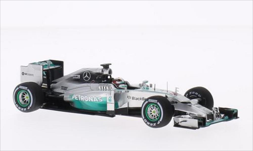 Mercedes F1 1/43 Spark W05 Hybrid No.44 Mercedes AMG Formel 1 Team Petronas Formel 1 GP Italien 2014 miniature