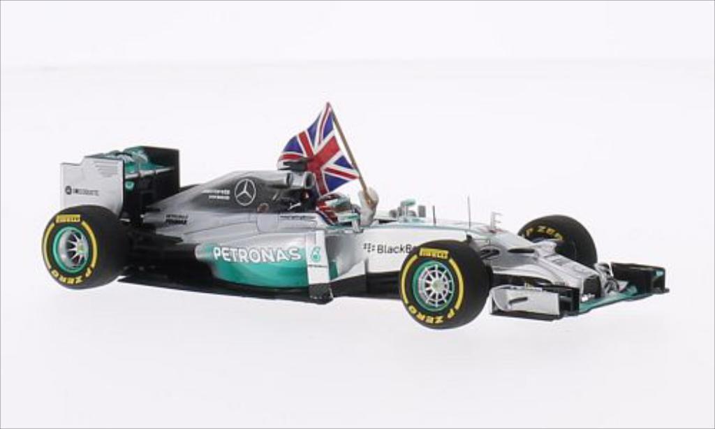 Mercedes F1 1/43 Spark W05 Hybrid No.44 Mercedes GP Petronas Formel 1 GP Abu Dhabi 2014 miniature
