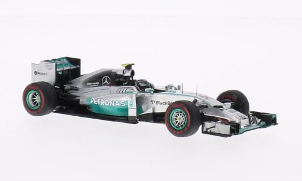 Mercedes F1 1/43 Spark W05 Hybrid No.6 Petronas GP Monaco 2014 miniature