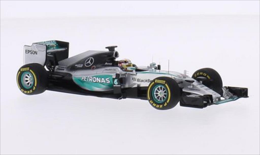 Mercedes F1 1/43 Spark W06 Hybrid No.44 AMG Petronas F1 Team Petronas Formel 1 GP USA 2015 miniature