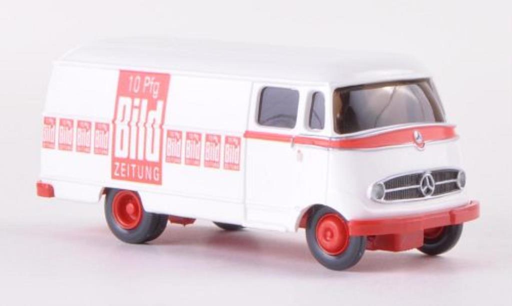Mercedes L319 1/87 Wiking Kasten Bild Zeitung Lieferwagen miniature