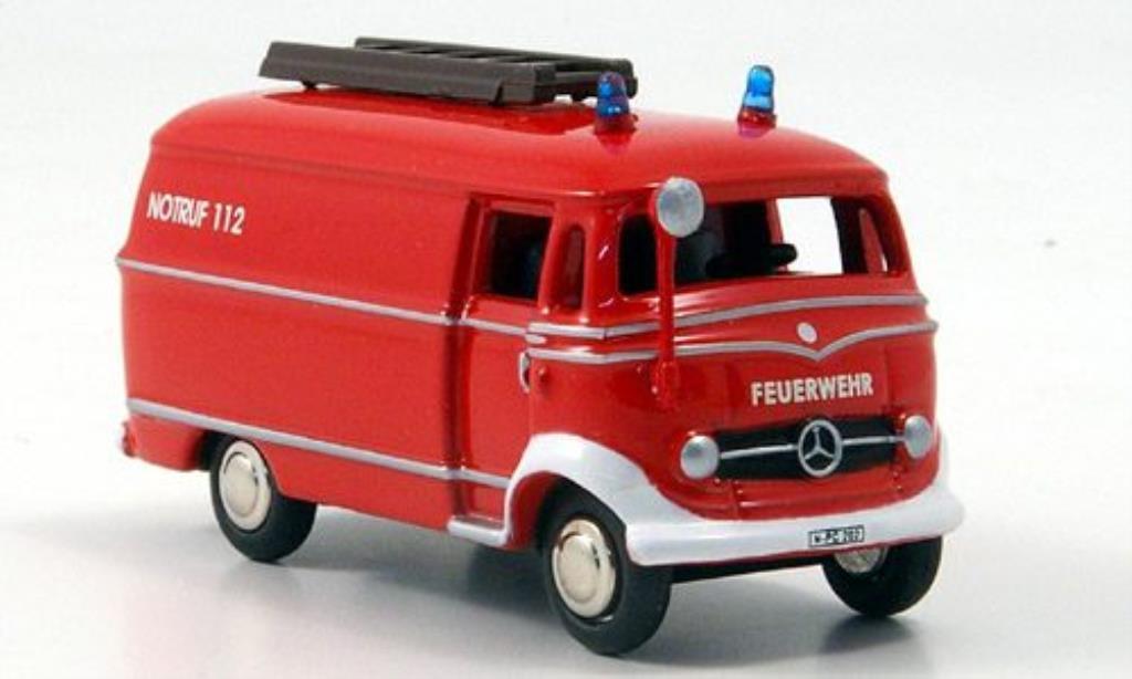 Mercedes L319 1/87 Bub Kastenwagen Feuerwehr diecast model cars