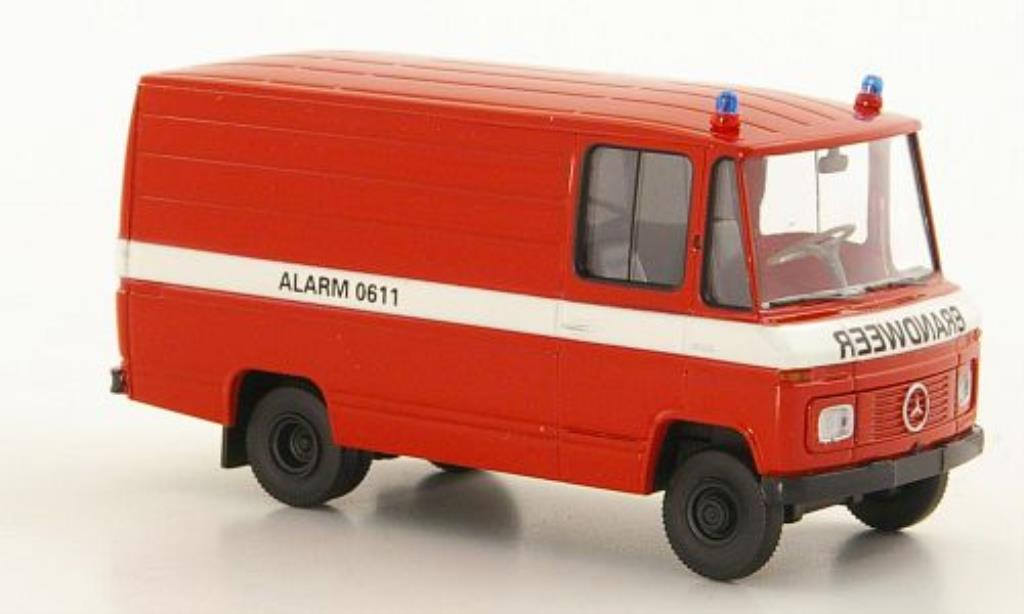 Mercedes L408 1/87 Brekina Kasten Brandweer Feuerwehr miniatura